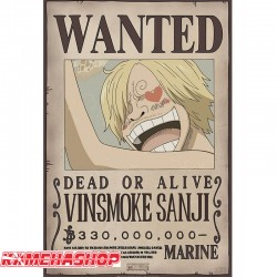 Affiche wanted Sanji - New world prime  -  ONE PIECE