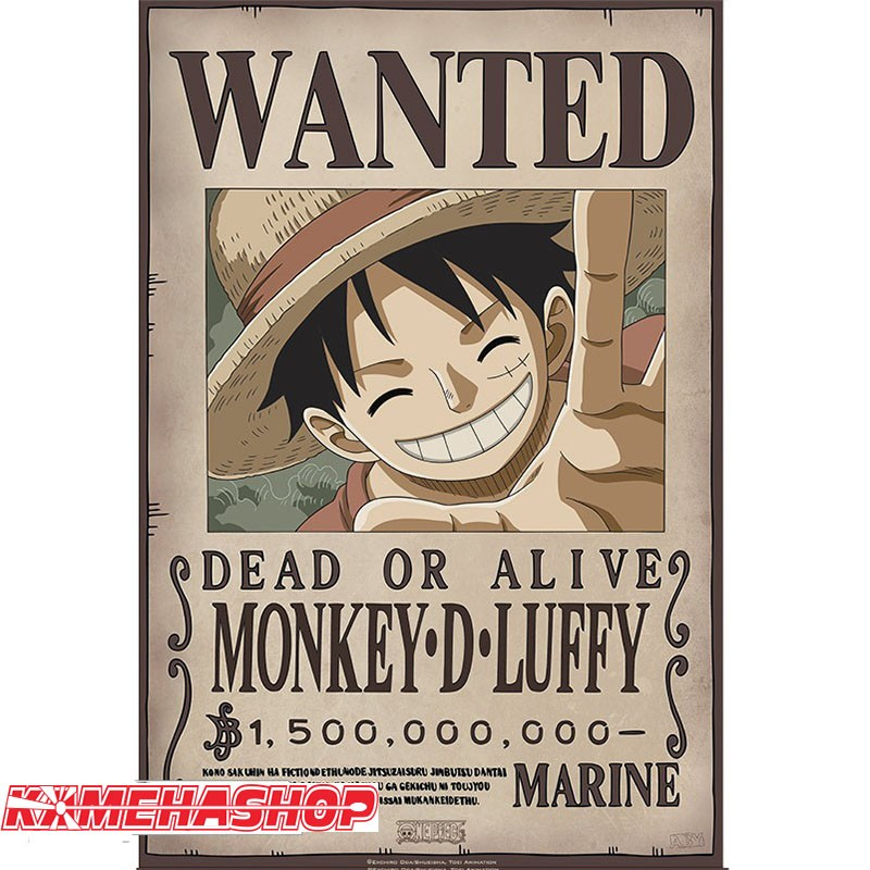 Affiche Wanted Luffy - New World Prime  -  ONE PIECE