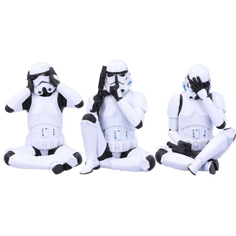 Set 3 figurines StormTrooper No Evil ver  - CINÉMA & SÉRIES TV