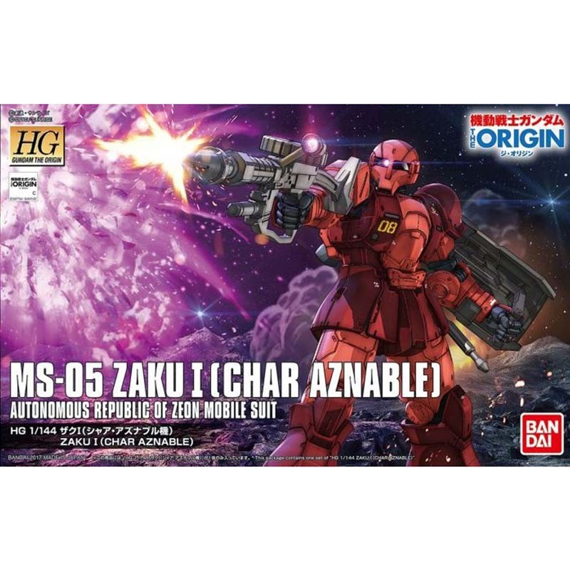 Gundam Zaku I Char Aznable - HG  -  GUNDAM