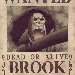 One piece - Affiche Wanted de Brook  - Posters & Affiches