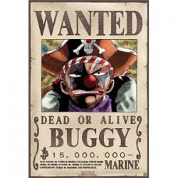 One piece - Affiche Wanted de Baggy le clown