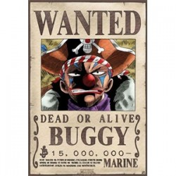 One piece - Affiche Wanted de Baggy le clown  - Posters & Affiches