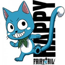 Fairy Tail - T-Shirt de Happy - Coupe Homme  - T-Shirts